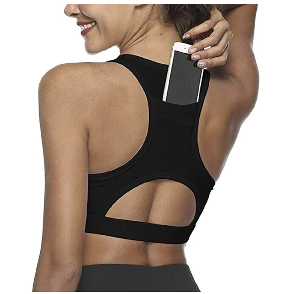 Snailify Sports Bra With Pocket
