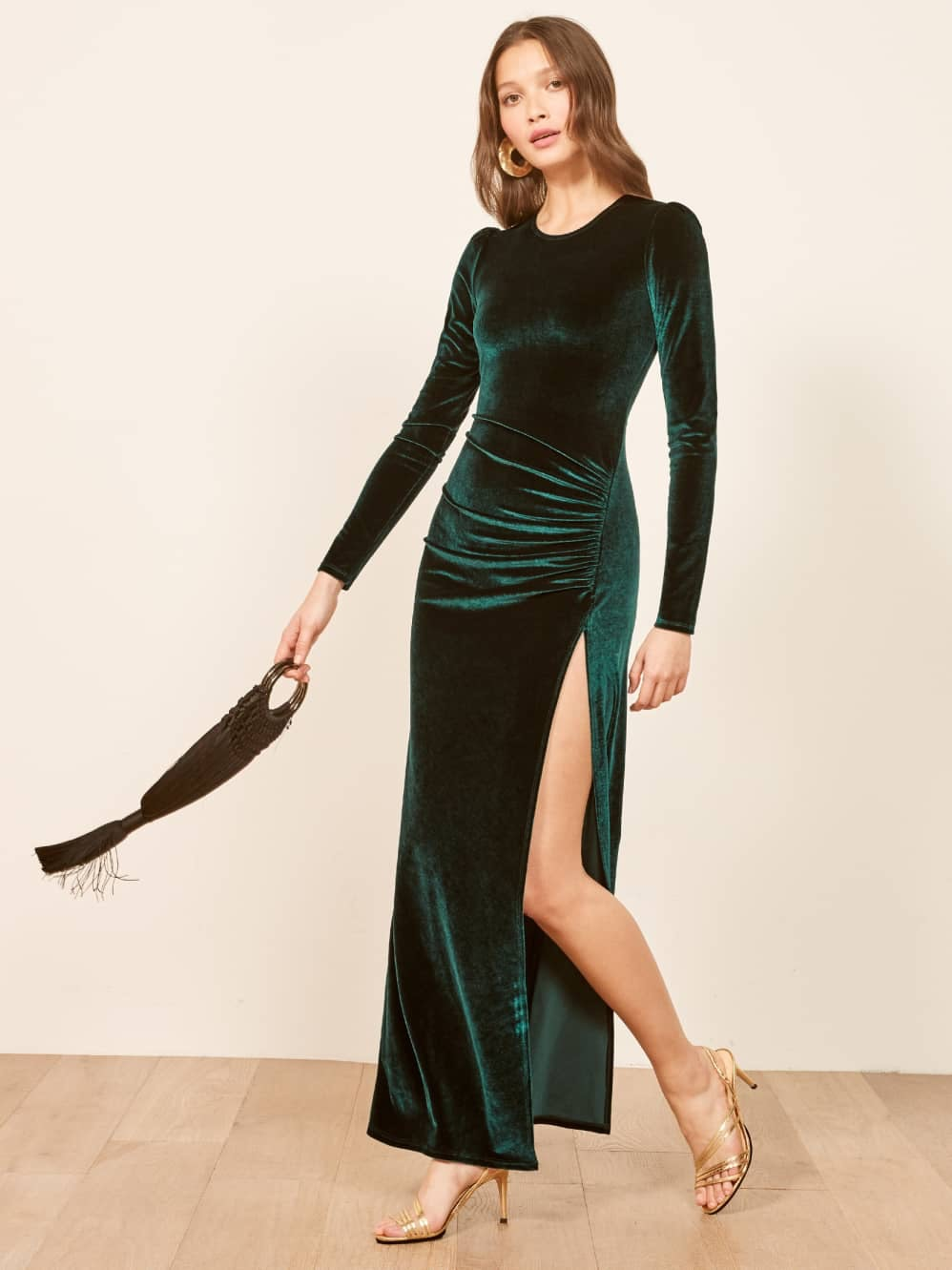 edb1d24af9b0d 15 Long New Year's Eve Dresses That Aren't Gowns, But Still Cover Your  Freezing Legs
