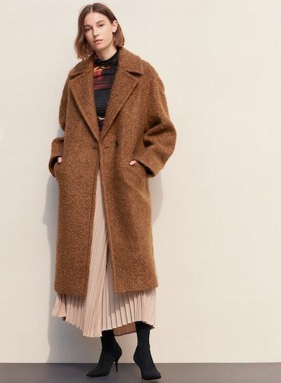 Leibovitz Coat Long, Oversized, Textured Coat