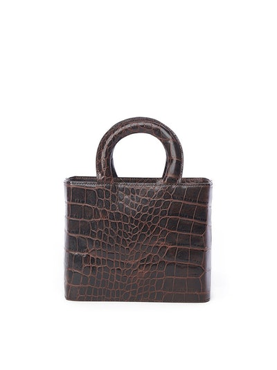 Nic Bag Brown Croc Embossed
