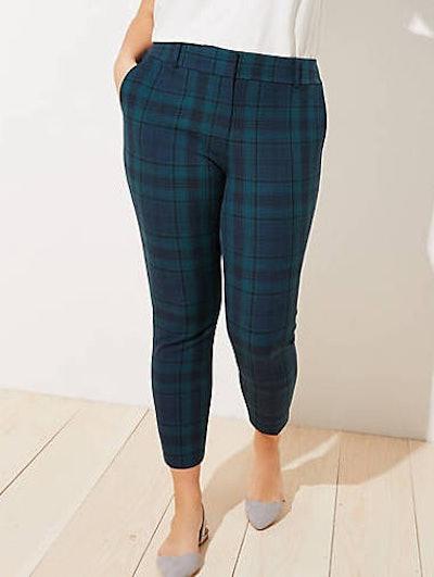 Plaid Skinny Ankle Pants