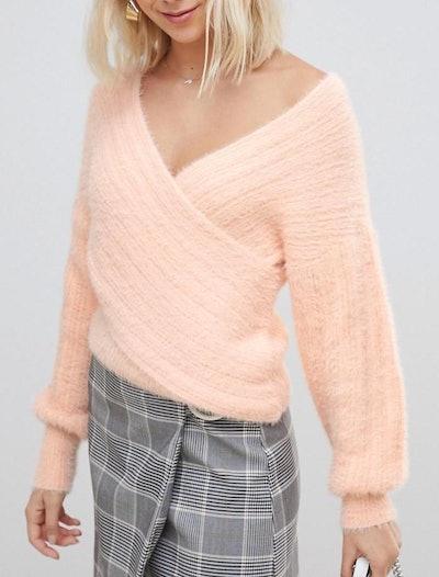 Drape Wrap Sweater