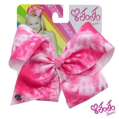 Signature Collection Tie Dye Hair Bow (Neon Pink)