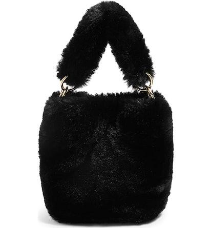 Teddy Faux Fur Bucket Bag