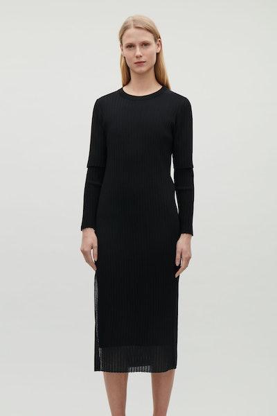 Layered Sheer Knit Dress