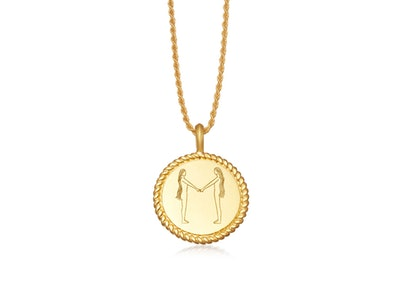 Body Language M Initial Necklace by Fee Greening