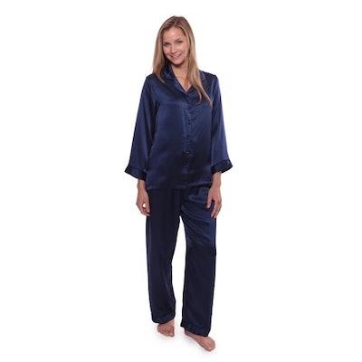TexereSilk Women's Luxury Silk Pajama Set