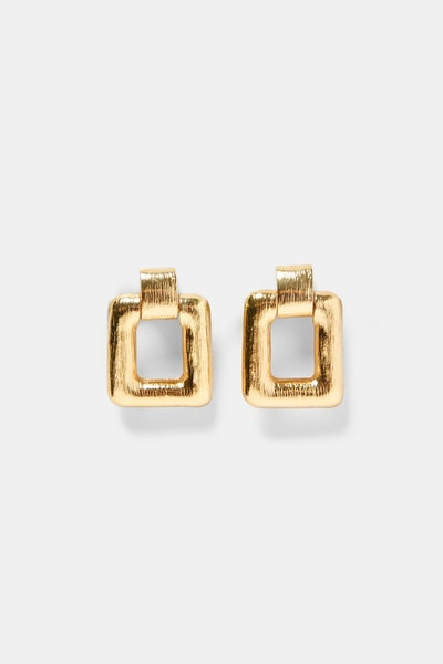 Squared Broche-Style Earrings