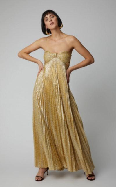 Alexis Joya Plissé Maxi Dress