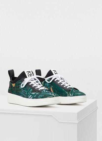 Kenzo Printed flowers K-city sneakers