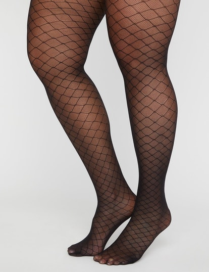 Lattice Fishnet Tights