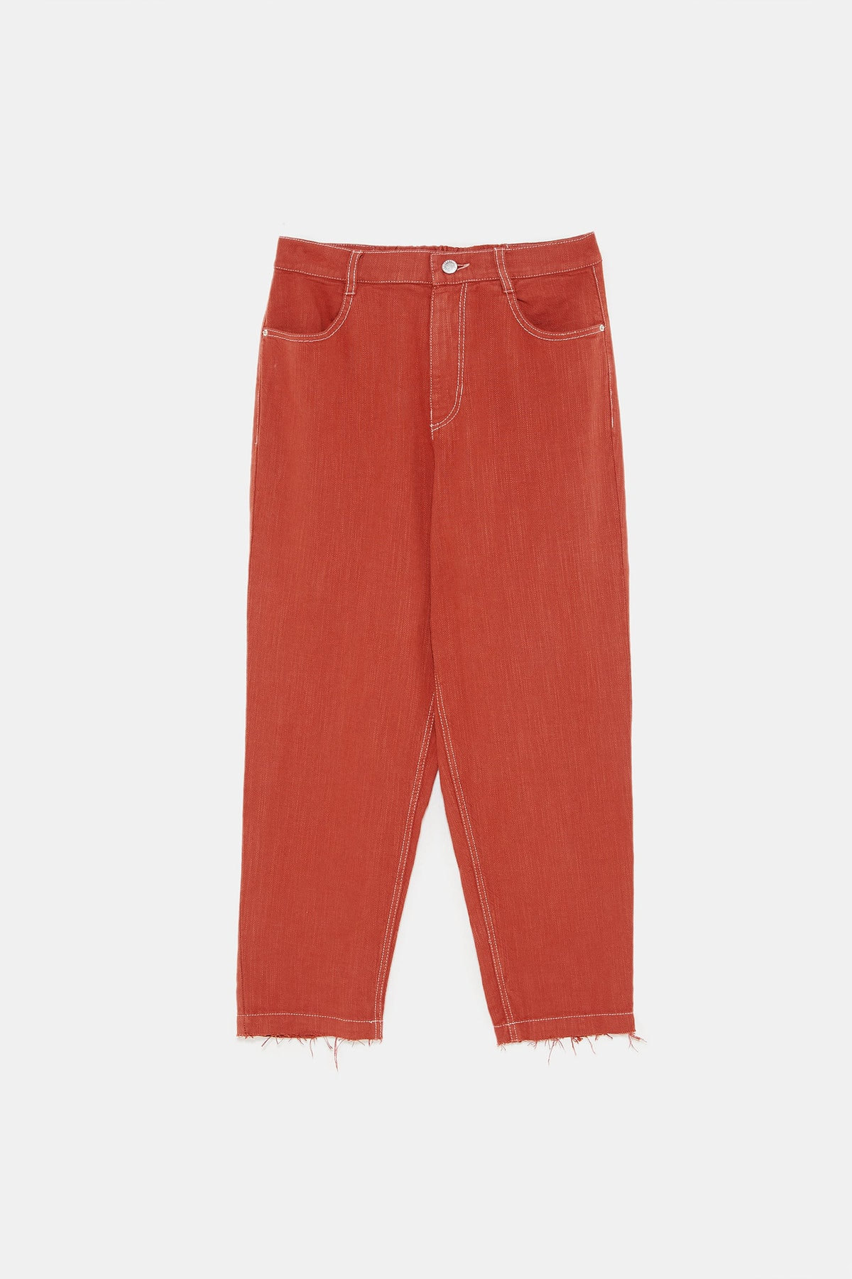 FLOWY PANTS WITH TOPSTITCHING