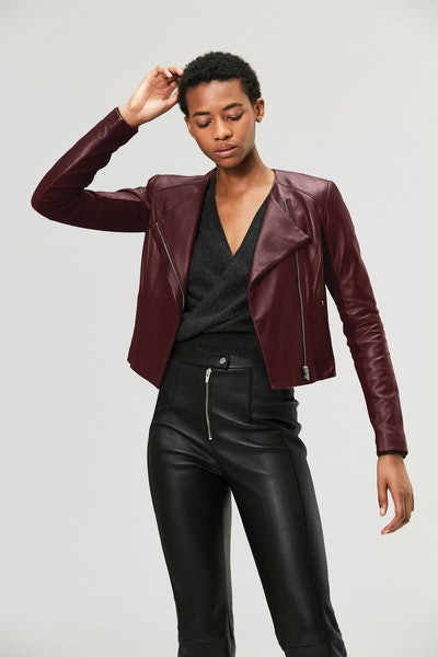 Dali Orion Leather Jacket Merlot