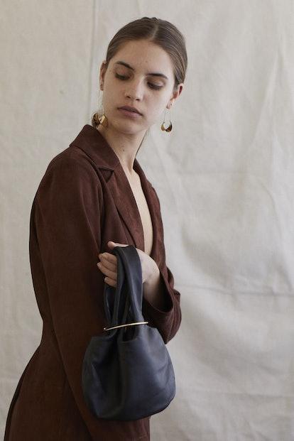 Sensillo Mini Pouch Bag With Gold Hardware Ring