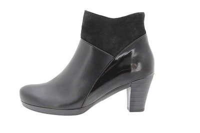 PieSanto Women's Black Leather Ankle Boot