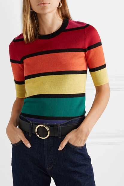Bain Cropped Striped Cotton Top