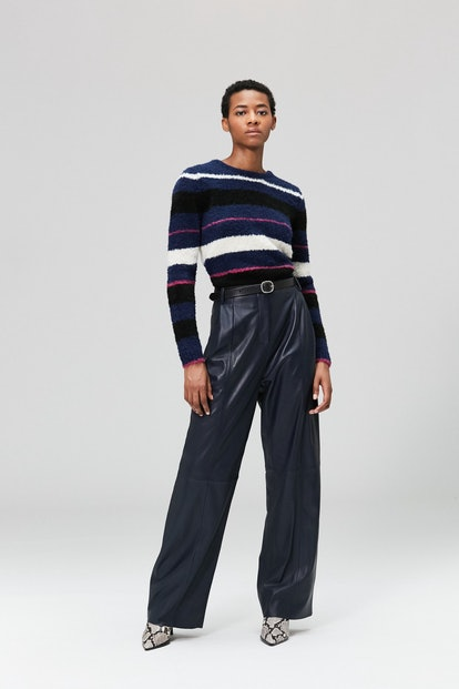 Bess Leather Trouser Navy