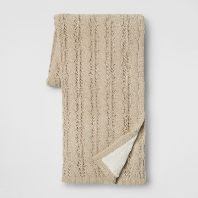 """Threshold™ - 60""""x50"""" Chunky Chenille Reverse To Sherpa Throw Blanket"""