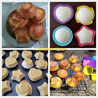 LetGoShop Silicone Cupcake Liners
