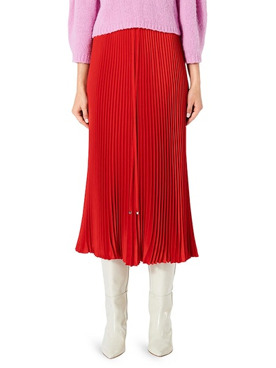 Mendini Plissé Pleated Midi Skirt