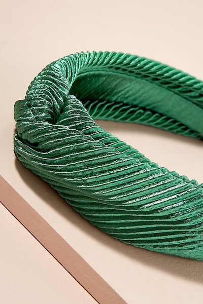 Pleated Twisted-Front Headband