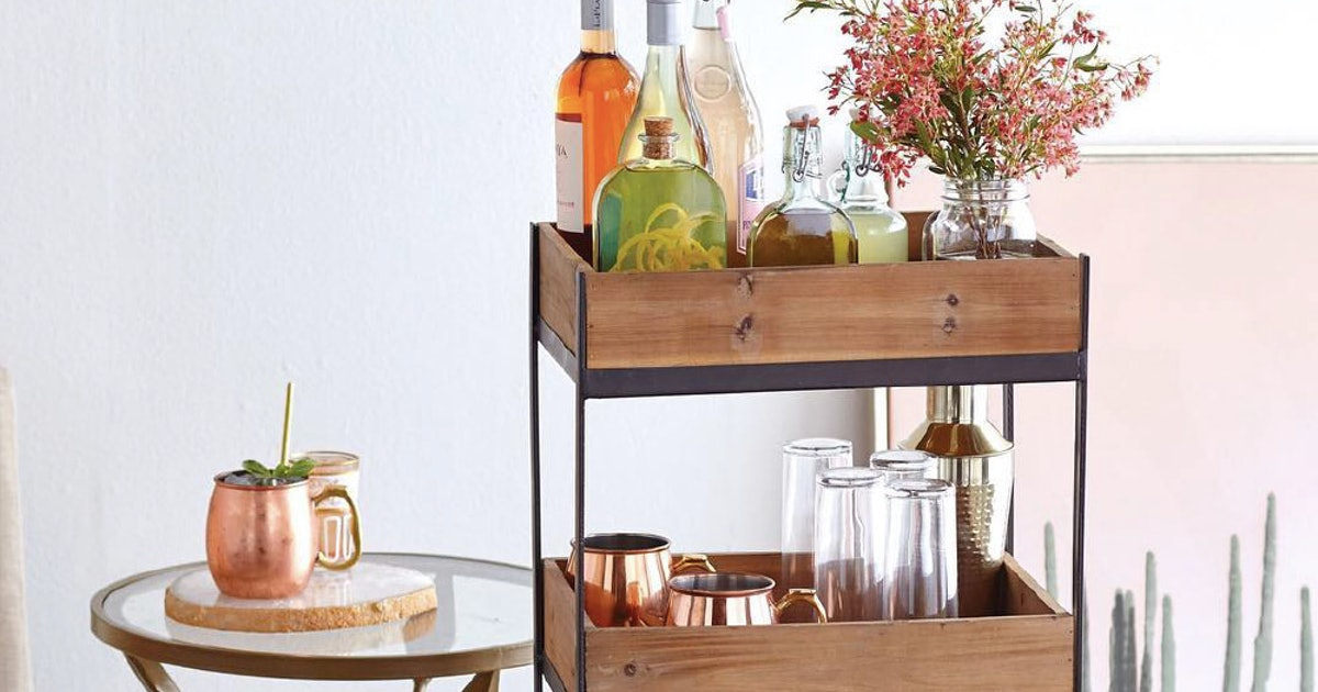10 Bar Carts Under $100 For Every Decor Aesthetic