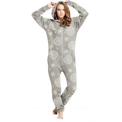 SkylineWears Women's Fleece Onesie One Piece Pajama Jumpsuit