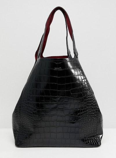 Inyati Thea moc croc oversized tote bag