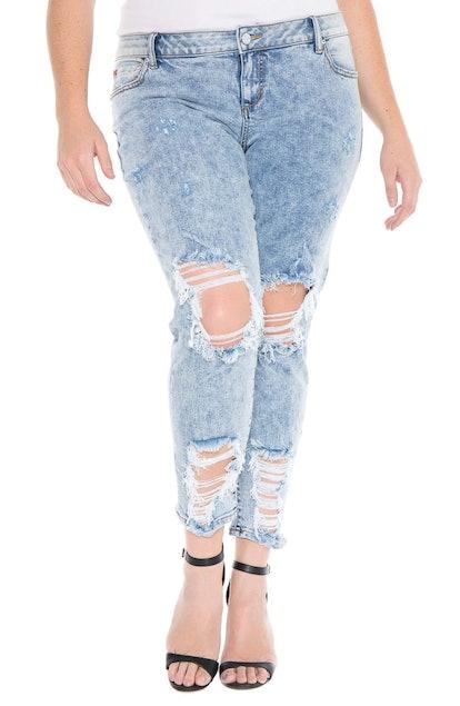 Destroyed Boyfriend Jeans SLINK JEANS