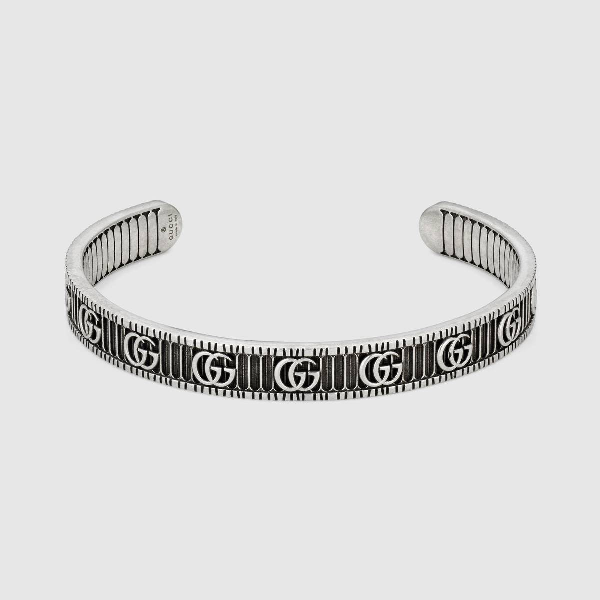 Bracelet with Double G in Silver