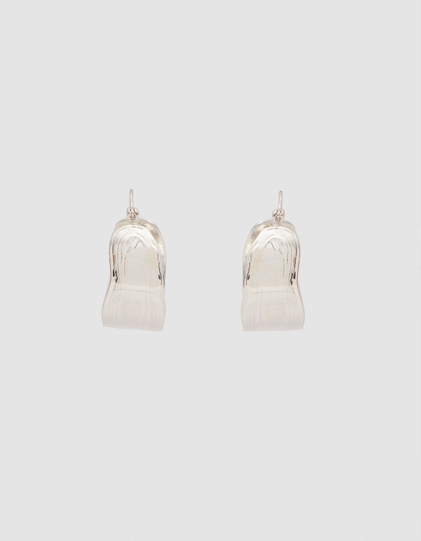 Wakame Silver Hoop Earrings