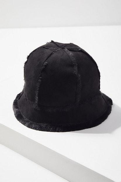 Sherpa + Suede Bucket Hat