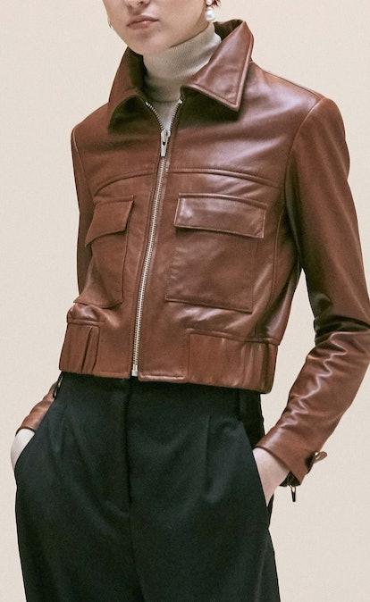 Jack Leather Jacket Saddle