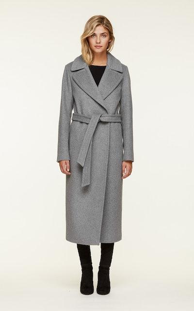 Adelaida Slim Fit Maxi-Length Classic Wool Coat