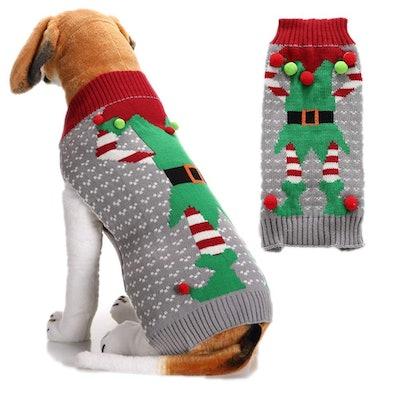 DOGGYZSTYLE elf ugly Christmas dog sweater
