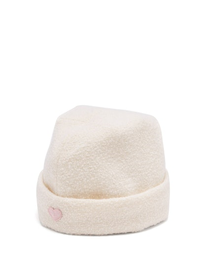 Federica Moretti Stitched-heart wool military cap