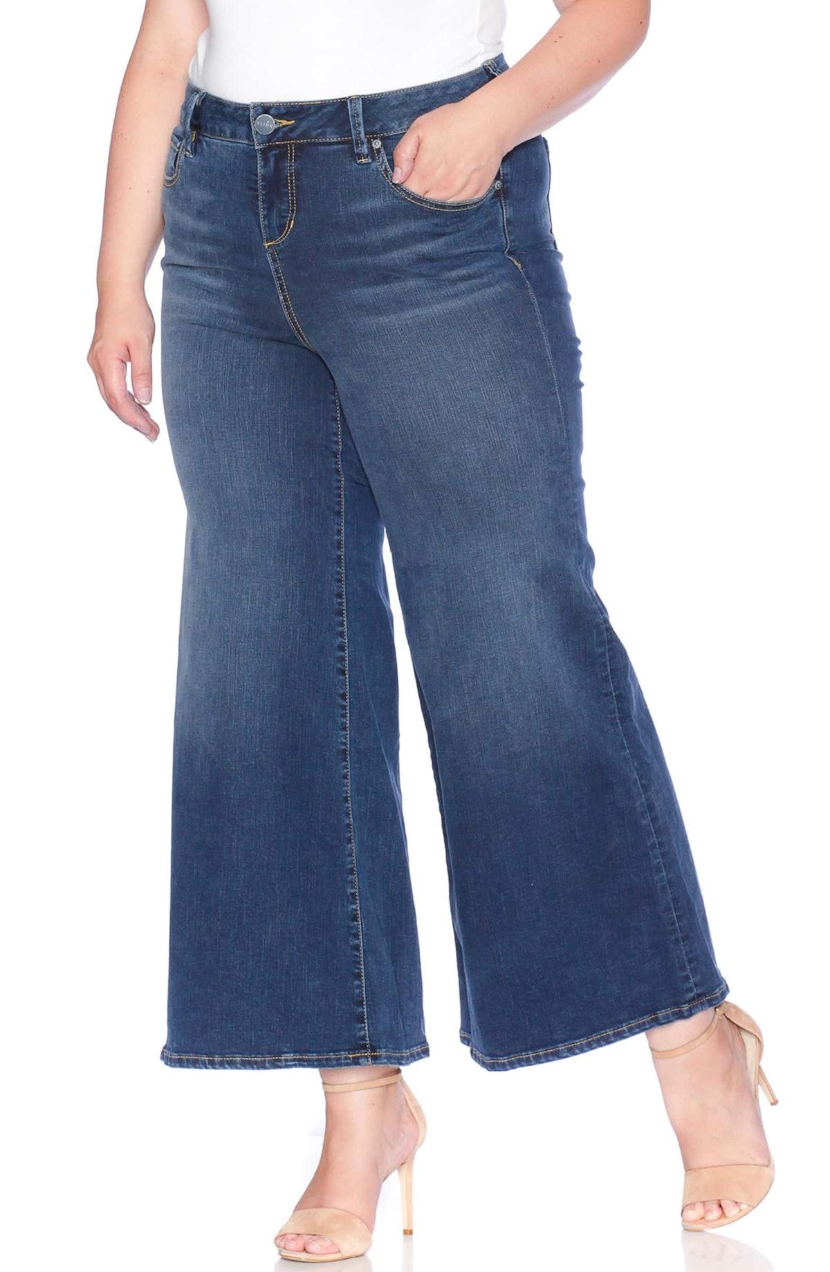 SLINK High Waist Wide Leg Crop Jeans,                         Main,                         color, H...
