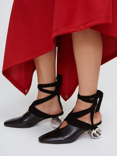 Cylinder Heel Ballet Shoe