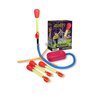 Stomp Rocket Ultra LED Light-Up Foam-Tipped Rockets and Launch Pad