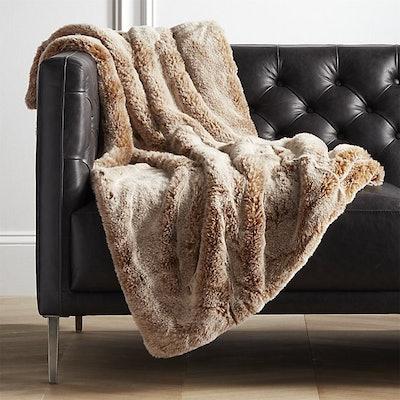 Premium Oatmeal Faux Fur Throw