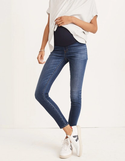 Maternity Over-the-Belly Skinny Jeans in Danny Wash: Tencel™ Edition