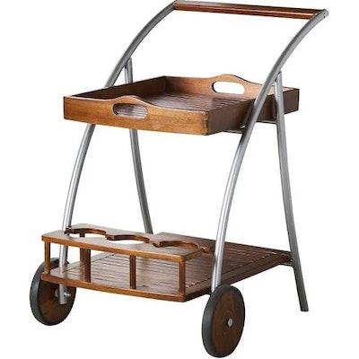 Clover Farmhouse Cottage Acacia Wood Bar Cart