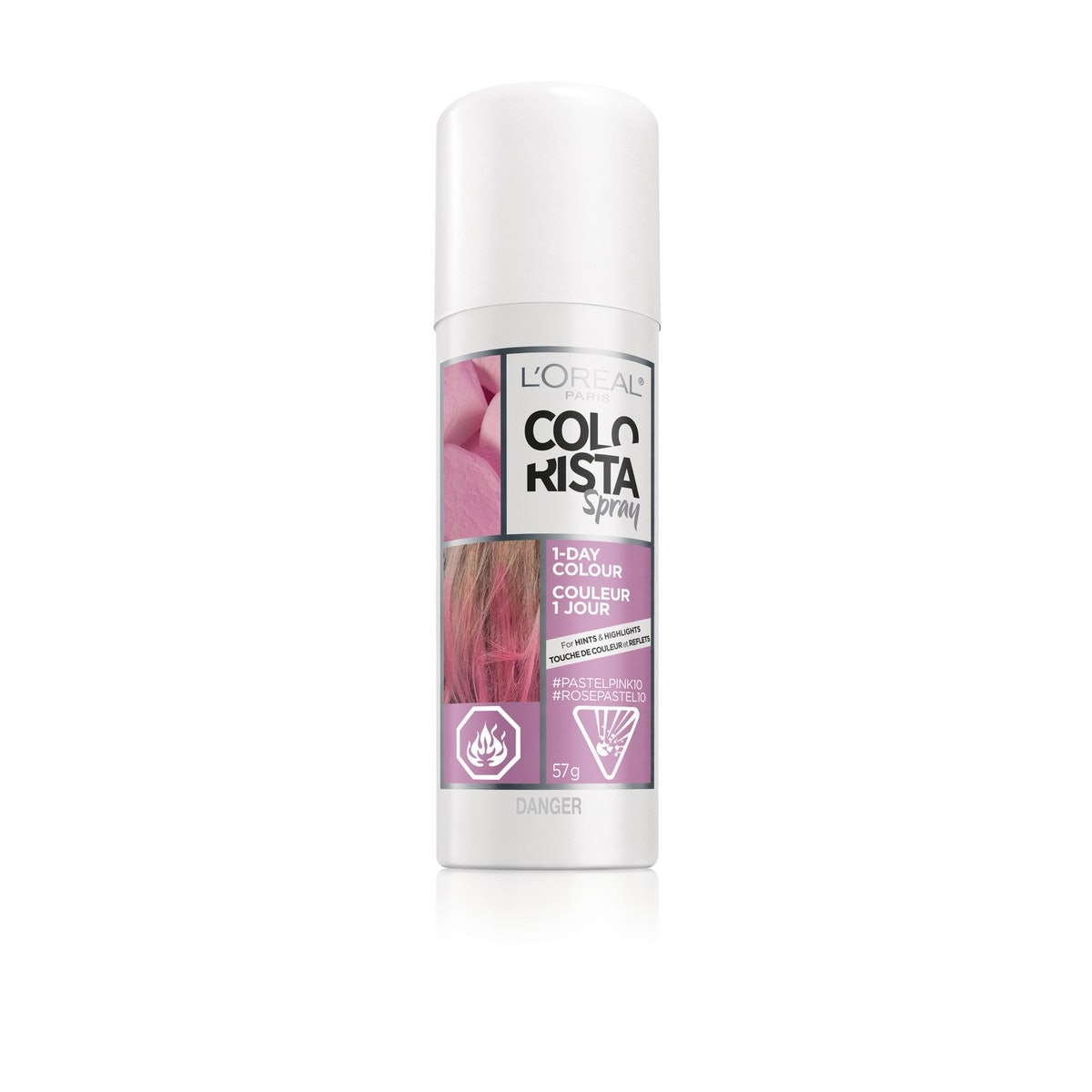 """Colorista 1-Day Spray in """"Pastel Pink"""""""