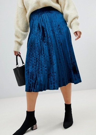 Pleated Skirt In Velvet
