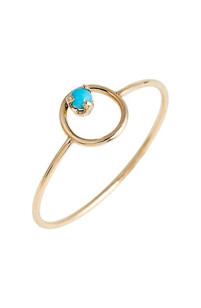 Turquoise Circle Ring