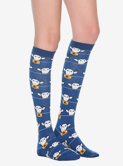 Hedwig Letter Knee-High Socks