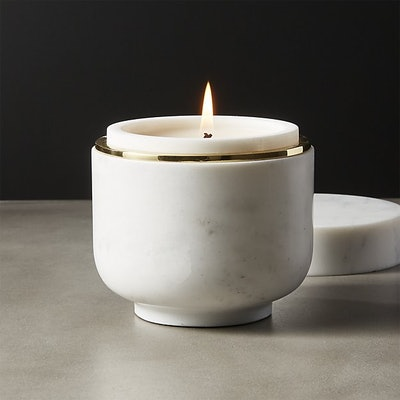 Bianco Marble Candle