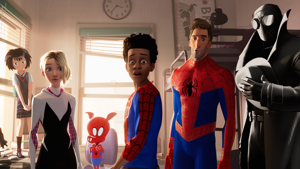 All The Spideys In 'Spiderman: Into The Spider-Verse,' From Peter