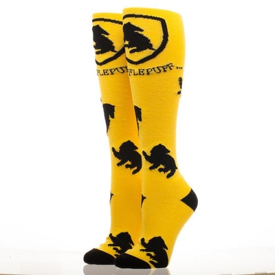 Hufflepuff Crest Knee High Socks