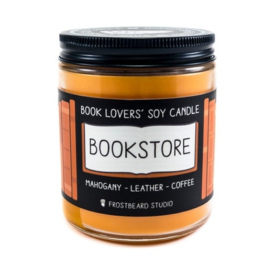 Bookstore Candle
